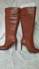 Ralph Lauren Beatrice,Brown Leather over the knee boots,Women's 5(BM) 3.5'' HEEL