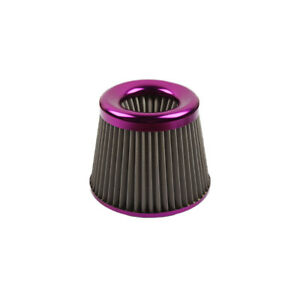"JDM PURPLE 3"" 76mm Power Intake High Flow Cold Air Intake Filter Cleaner"