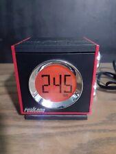 Red alarm clock radio speaker realtone