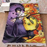 Soft Comfort COS Japanese Anime Naruto Bed Sheet Sasuke Blanket Birthday Gift