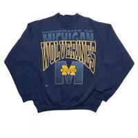 Vintage University Of Michigan Wolverines Graphic Crewneck Sweatshirt Size L