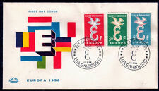 EUROPA CEPT FDC 1958 LUXEMBOURG 1