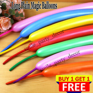 New LONG MAGIC Balloons Different Colours Latex 260Q Traditional Modelling UK