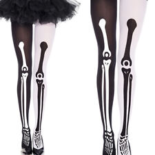 Mismatch Dia De Los Muertos Skeleton Black Leg Bone Halloween Costume Stockings