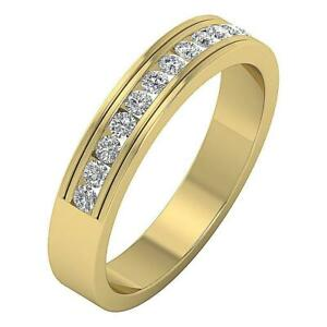 Engagement Wedding Ring SI1 G 0.50 Ct Real Diamond Yellow Gold 4.70MM Appraisal