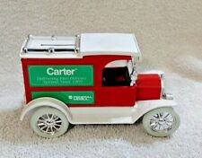 Vintage ERTL 1913 Ford Model T Van Bank -- Carter Fuel / Federal Mogul