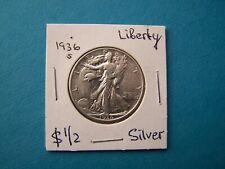 "US COINS 1936 YEAR LIBERTY HALF DOLLAR ""S"" NICE SILVER COIN"