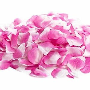Factory Direct Craft Bulk Bag of Approximately 1800 Pink and White Roses