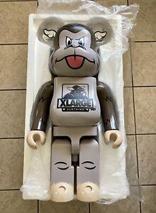 D*FACE XLARGE 1000% Bearbrick Be@rbrick Medicom Charcoal Monkey Rare Dcon 2019