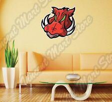 "Wild Boar Red Hog Pig Head Cartoon Kids Wall Sticker Room Interior Decor 22""X22"""
