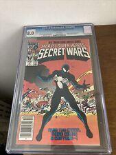 Marvel Super Heroes Secret Wars #8 CGC 8.0 Origin alien symbiote Venom Spiderman