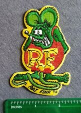 Rat Fink Racing Greaser Gearhead Fink Hot Rod Patch