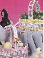 "Plastic Canvas Pattern ONLY - ""Jelly Beans"" & ""Easter Eggs"" Baskets - 7 count pc"