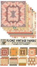 """Paper 24sh 6""""x6""""# Art Nouveau Flourishes # FLONZ 070 Craft Scrapbooking"""