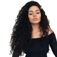 Long Afro Curly Black Hair Wig Synthetic Lace Front Full Wigs Heat Resistant