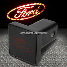 """FOR FORD BULLY 2"""" RECEIVER TRAILER TOW HITCH COVER/ABS PLUG+LOGO LED BRAKE LIGHT"""