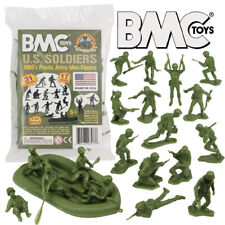 Marx BMC reissue 1/32 WWII US toy soldiers x 31 pieces green, red, blue or gray