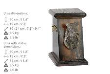 Kerry Blue Terrier, dog urn made of cold cast bronze, ArtDog, Usa - kind3