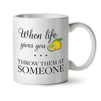 Life Lemon Throw NEW White Tea Coffee Mug 11 oz | Wellcoda
