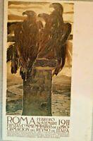 ROMA ESPOSIZIONE INTERNAZIONALE ROMA 1911 ,DUILLO CAMBELLOTTI cartolina spagnolo