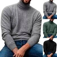 Herren Strickpullover Rollkragen Pullover Pulli Langarm Sweater Winter Freizeit