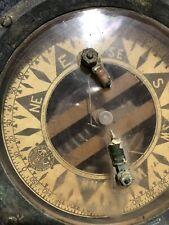 Vintage Wood Freeman Metal Marine Pilot autopilot compass 1937 Tacoma, Wa