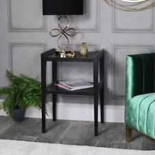 Tables d'appoint noirs carrés pour le salon