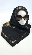 Vintage Gim Renoir women's Black Musical Themed Head wrap Scarf I66
