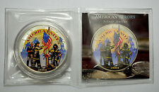2001 American Silver Eagle Double Sided Colorized Coin Remembering Our Heroes911