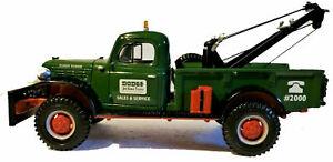 DODGE SALES & SERVICE 1946 POWER WAGON WRECKER DIECAST TOW TRUCK #19-2476