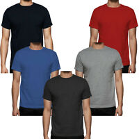 New Mens cheap Plain T-shirts Half Sleeve Round Neck Basic Cotton Causal Top