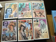 FRANCE - 6 cartes 1er jour 25/10/1997 (heros d aventure) (cy44) french