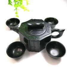 Chinese kung fu tea tea with natural  jade teapot and tea cup A set
