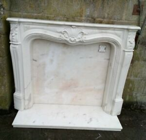 Louis Style Composite Marble Effect  Fireplace - With marble Hearth / Back Panel