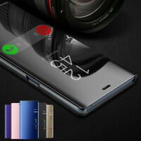 Smart View Mirror Leather For Samsung Galaxy Note 9/Note 8 Flip Cover Stand Case
