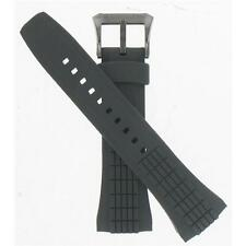 Seiko 26mm Schwarz Gummi Riemen Velatura Kinetic Herren-Size Watch Band 4lj7mb