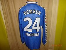 "Vfl bochum original manga larga Camiseta matchworn 2000/01 ""Faber"" + nº 24 Bemben talla L"