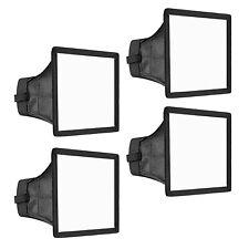 "Neewer 4 Pack 6x5"" Speedlite Softbox Flashlight Diffuser Kit for Canon Nikon"