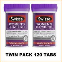 Swisse Women's Ultivite 50+ 2x60 Tablets |Twin Pack| 120 Tabs | 4 Months Supply