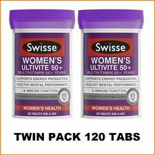 Swisse Women's Ultivite 50+ 2x60 Tablets |Twin Pack| 120 Tabs | 4 Months Supply