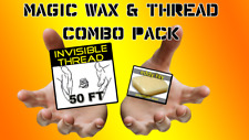 New Magic Trick Invisible Thread Kit 50 Feet with Wax Block
