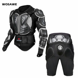 Motorcycle Body Protection Bike Armored Jacket Shorts Hip Chest Guards Motocross