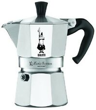 Espresso Maker 3 Cup Coffee 8 Sided Octagon Shape 2 Oz Cups Stainless Steel Set
