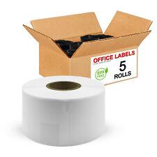 "5 Rolls of SLP-2RLE Compatible Labels for SEIKO® SmartLabel® 1-4/10"" x 3-1/2"""