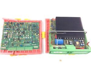 Set 2er ABB  Platine GF6001 A  u  AXODYN Servo Amplifier 05SM 8123 95 539538