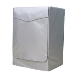 Washing Machine Cover Dust Proof Water Resistant Protector Silver Zip M
