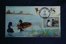 Federal Migratory Bird Hunting $12.50 Lesser Scaup Duck FDC Olde-Well HP Sc#RW56