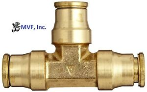 """1/2"""" O.D. Tube Union Tee Tube to Tube to Tube Push to Connect Brass <264PP-8"""