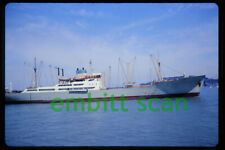 Original Slide, Swedish Cargo Ship Stratus at San Francisco, 1970