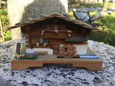 Vintage Swiss Made Chalet Wood Music Box Cuendet Working Really Adorable